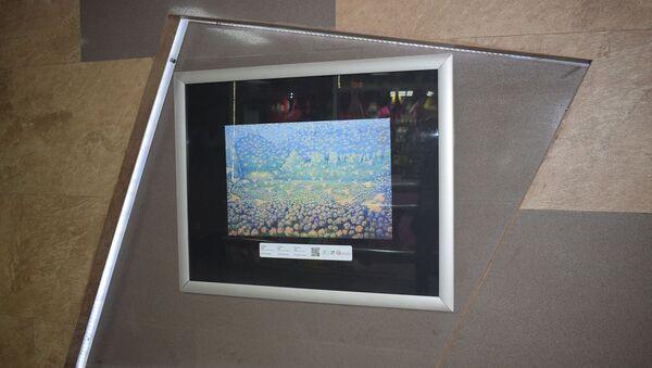 Выставка фоторепродукций шедевров известных азербайджанских художников в подземном переходе станции метро Нариман Нариманова - Sputnik Азербайджан