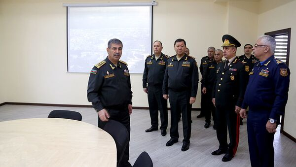 Сданы в эксплуатацию новые объекты в Азербайджанском высшем военном училище имени Гейдара Алиева - Sputnik Азербайджан