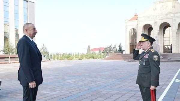İlham Əliyev Daxili İşlər Nazirliyinin Polis Akademiyasında yeni tədris binasının açılışında iştirak edib - Sputnik Azərbaycan
