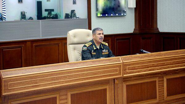 На Центральном командном пункте под руководством Закира Гасанова состоялось служебное совещание - Sputnik Азербайджан