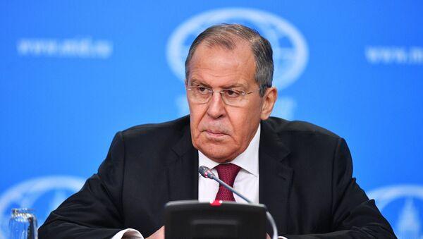 Пресс-конференция главы МИД РФ С. Лаврова - Sputnik Азербайджан