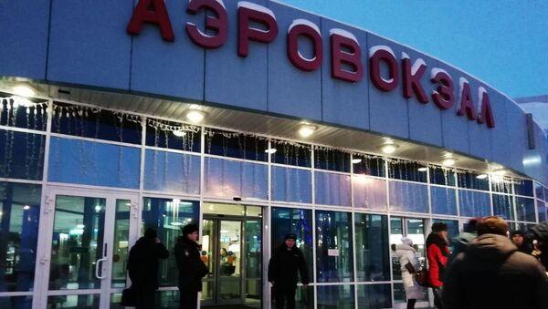 Ситуация около аэропорта Ханты-Мансийска - Sputnik Азербайджан