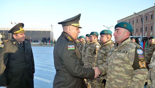 Группа миротворцев из Азербайджана отправлена в Афганистан - Sputnik Азербайджан