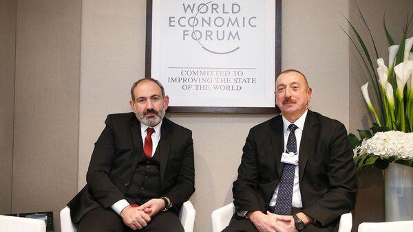 Президент Азербайджана Ильхам Алиев и Николь Пашинян - Sputnik Азербайджан