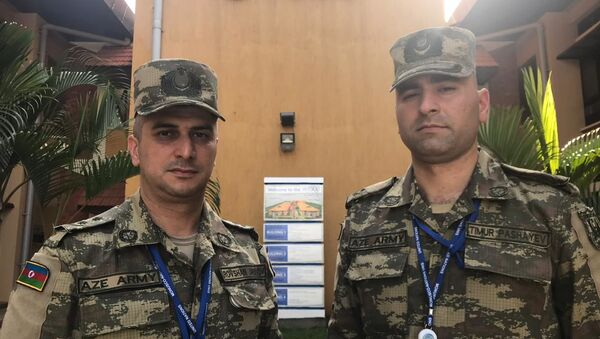 Двое офицеров Азербайджанской Армии прибыли в столицу Южного Судана город Джуба для участия в миротворческой миссии, проводимой под мандатом ООН - Sputnik Азербайджан