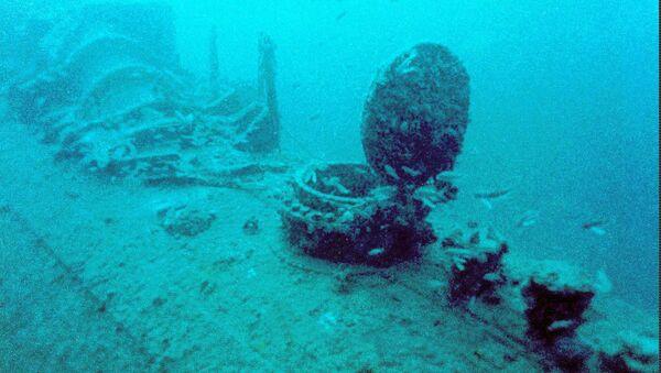 Затонувшая подлодка времен Второй Мировой Войны - Sputnik Azərbaycan