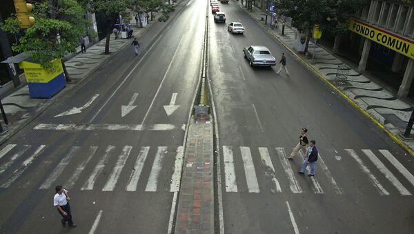 Venesuelanın paytaxtı Karakasın mərkəzi küçəsi - Sputnik Azərbaycan