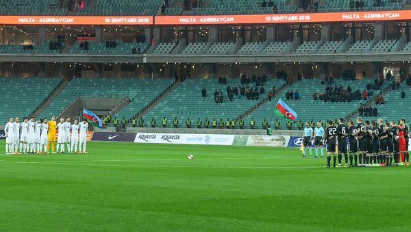 Пустые трибуны во время матча национальной сборной - Sputnik Азербайджан
