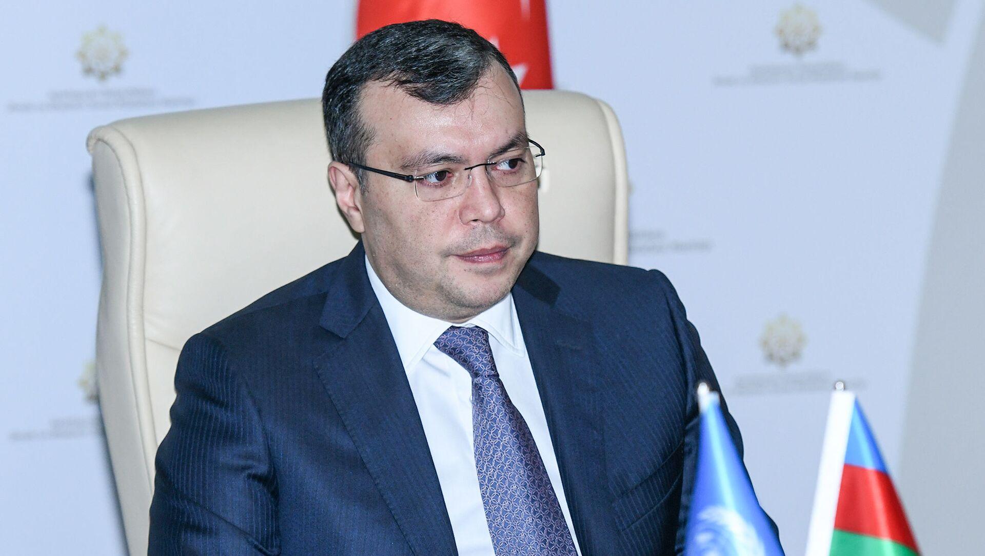 Əmək və Əhalinin Sosial Müdafiəsi naziri Sahil Babayev - Sputnik Azərbaycan, 1920, 02.09.2021