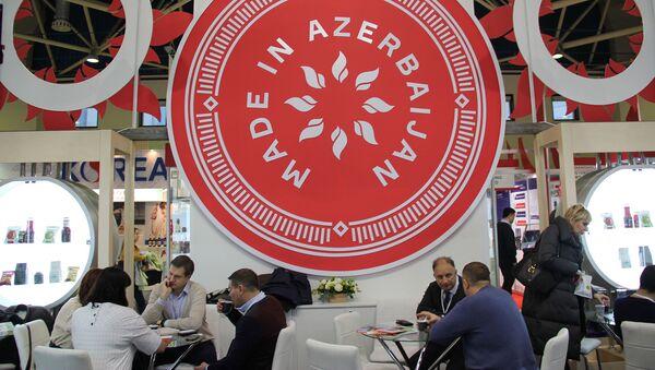 Зона бизнес-переговоров на азербайджанском стенде, фото из архива - Sputnik Азербайджан