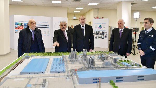"""Prezident İlham Əliyev Sumqayıtda """"SOCAR Polymer""""in yüksəksıxlıqlı polietilen zavodunun açılışında iştirak edib - Sputnik Azərbaycan"""