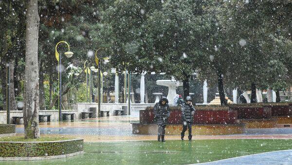 Первый мокрый снег в Баку - Sputnik Азербайджан