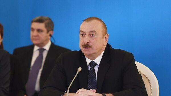 Azərbaycan Prezidenti İlham Əliyev toplantıda iştirak edir - Sputnik Азербайджан