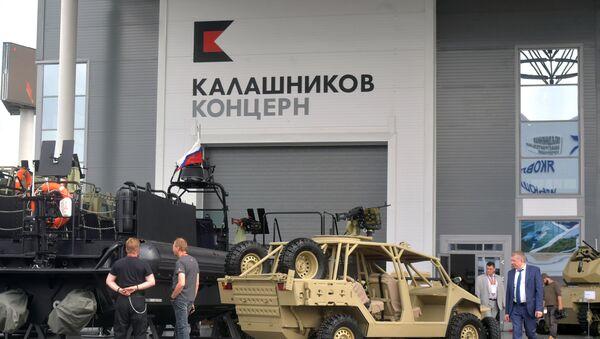 На стенде концерна Калашников на выставке Армия России – завтра - Sputnik Азербайджан