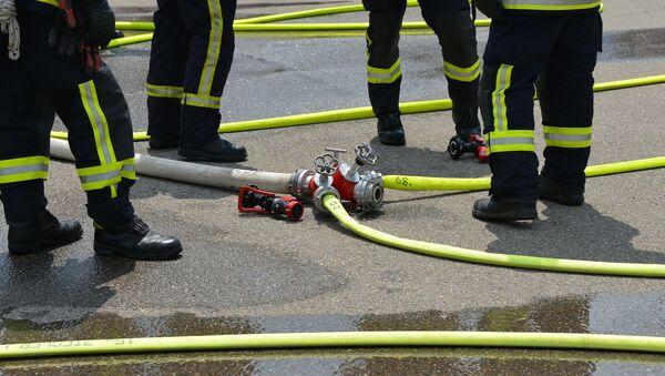 Отряд пожарников - Sputnik Azərbaycan