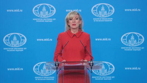 Rusiya Xarici İşlər Nazirliyinin rəsmi təmsilçisi Mariya Zaxarova - Sputnik Azərbaycan