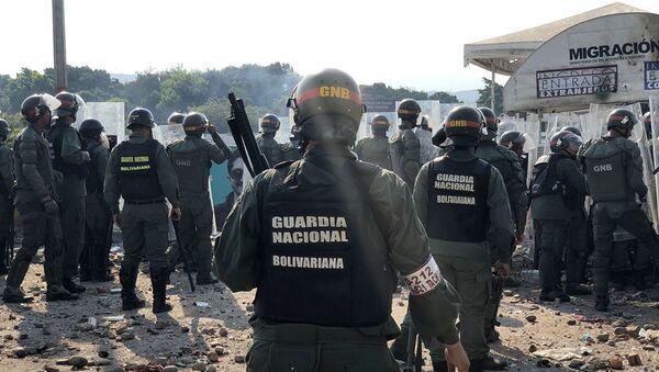 Ситуация у моста Симона Боливара на границе между Венесуэлой и Колумбией - Sputnik Азербайджан