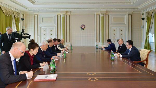 Президент Азербайджана Ильхам Алиев принял делегацию во главе с действующим председателем ОБСЕ - Sputnik Azərbaycan