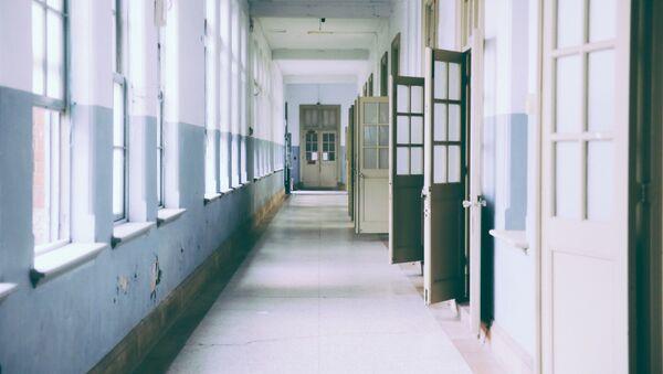Школьный коридор, фото из архива - Sputnik Азербайджан