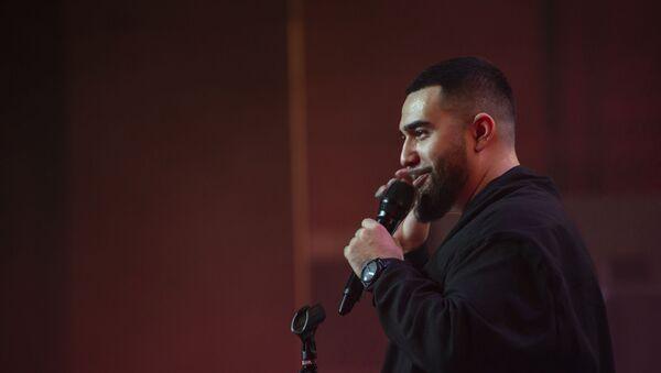 В Бакинском конгресс-центре в воскресенье, десятого марта прошел соло-концерт известного казахстанского рэпера, певца с азербайджанскими корнями Jah Khalib - Sputnik Азербайджан