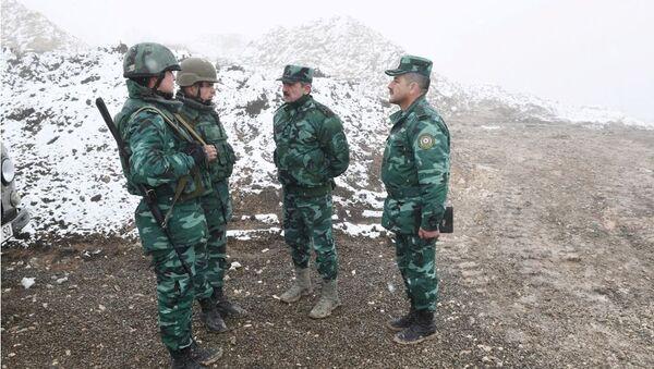 Эльчин Гулиев ознакомился с работами по усовершенствованию территориальной обороны в Газахском и Агстафинском районах - Sputnik Азербайджан