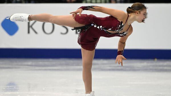 Екатерина Рябова (Азербайджан) выступает в произвольной программе женского одиночного катания на чемпионате Европы по фигурному катанию в Минске - Sputnik Азербайджан
