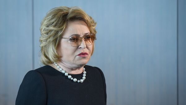 Председатель Совета Федерации РФ Валентина Матвиенко - Sputnik Azərbaycan