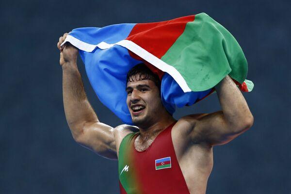 Азербайджанский борец греко-римского стиля Ислам Аббасов - Sputnik Азербайджан