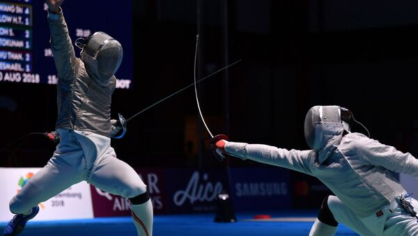 Чемпионат мира среди шпажистов - Sputnik Азербайджан