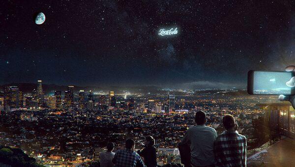 Реклама Coca Cola в звездном небе - Sputnik Азербайджан