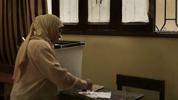 Голосование в Египте, фото из архива - Sputnik Азербайджан