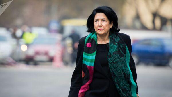 Gürcüstan prezidenti Salome Zurabişvili yeni prezident igamətgahında - Sputnik Азербайджан