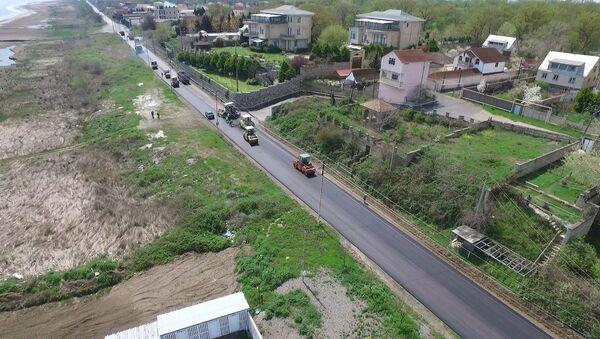Реконструкция трассы Худат-Набрань - Sputnik Азербайджан