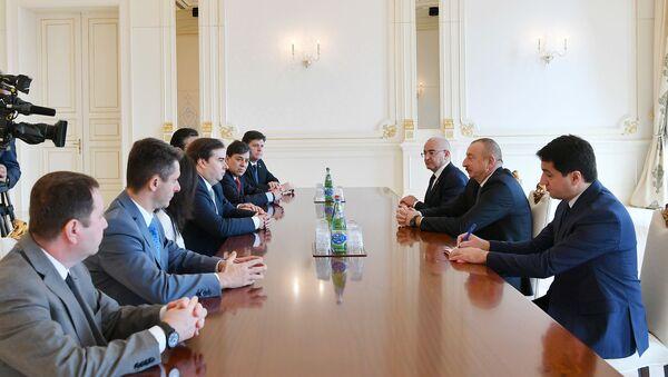Президент Азербайджана Ильхам Алиев принял делегацию во главе с председателем Палаты депутатов Национального конгресса Федеративной Республики Бразилия Родриго Майя - Sputnik Азербайджан
