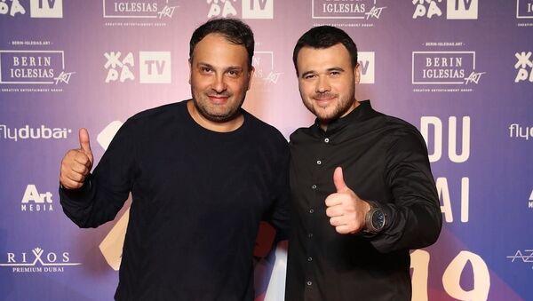 Организаторы фестиваля ЖАРА В ДУБАЕ 2019 Максим Берин и Эмин Агаларов - Sputnik Азербайджан