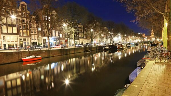 Ночной Амстердам - Sputnik Азербайджан