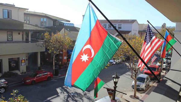 Флаги США и Азербайджана - Sputnik Азербайджан