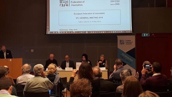 Avropa Jurnalistlər Federasiyasının Baş Toplantısı keçirilib - Sputnik Azərbaycan