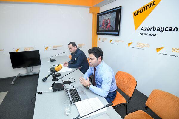 Пресс-конференция, посвященная деятельности Общества Красного полумесяца Азербайджана в Мультимедийном пресс-центре Sputnik Азербайджан - Sputnik Азербайджан