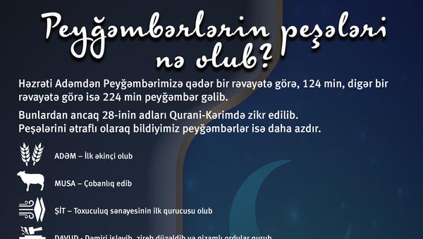 infoqrafika - Peyğəmbərlərin peşələri nə olub? - Sputnik Azərbaycan