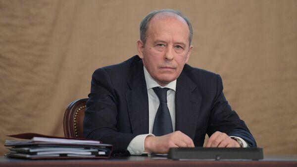 Директор Федеральной службы безопасности РФ Александр Бортников на заседании коллегии ФСБ - Sputnik Азербайджан