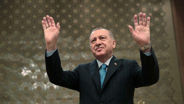 Турецкий лидер Реджеп Тайип Эрдоган - Sputnik Азербайджан