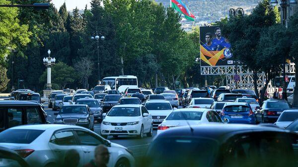 Bakıda avtomobil tıxacı - Sputnik Азербайджан