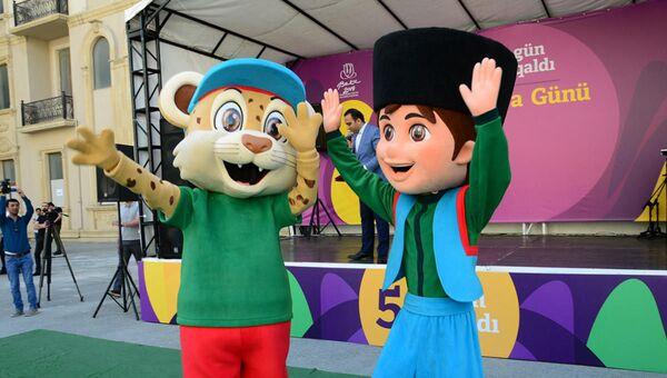 Представлены маскоты XV Европейского юношеского олимпийского фестиваля - Sputnik Азербайджан