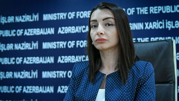 Руководитель пресс-службы МИД Азербайджана Лейла Абдуллаева - Sputnik Азербайджан
