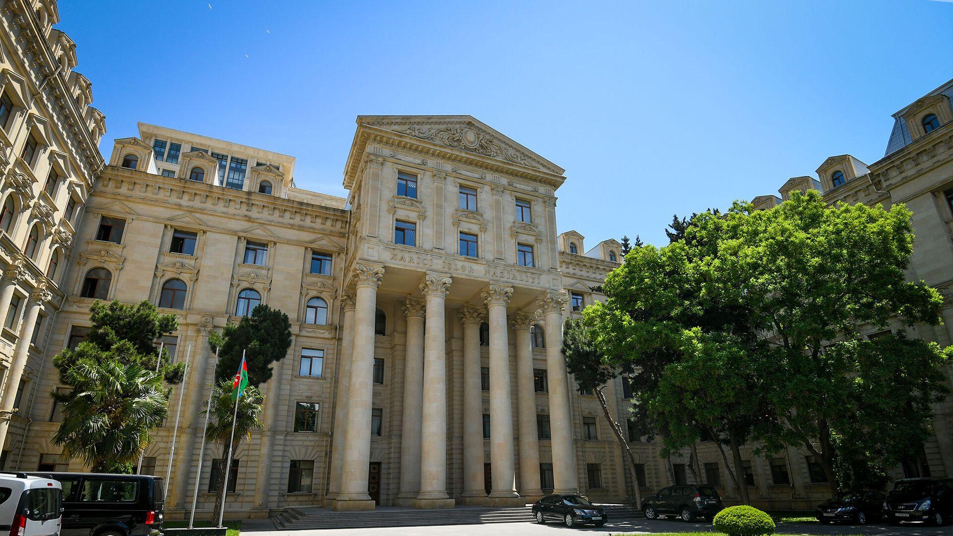 Здание Министерства иностранных дел Азербайджанской Республики в Баку - Sputnik Азербайджан, 1920, 28.07.2021