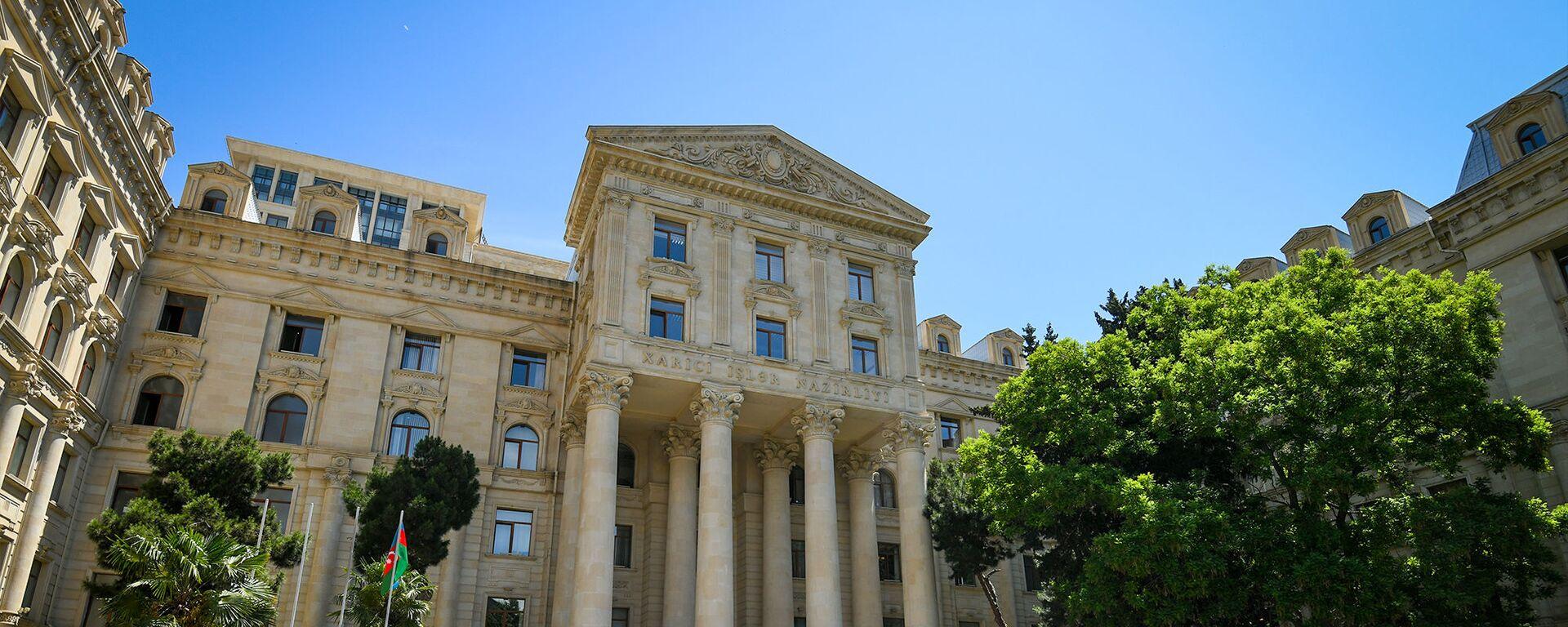 Здание Министерства иностранных дел Азербайджанской Республики в Баку - Sputnik Азербайджан, 1920, 20.01.2021