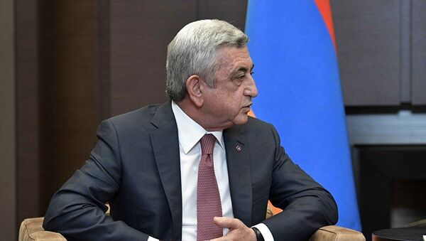Президент Армении Серж Саргсян - Sputnik Azərbaycan