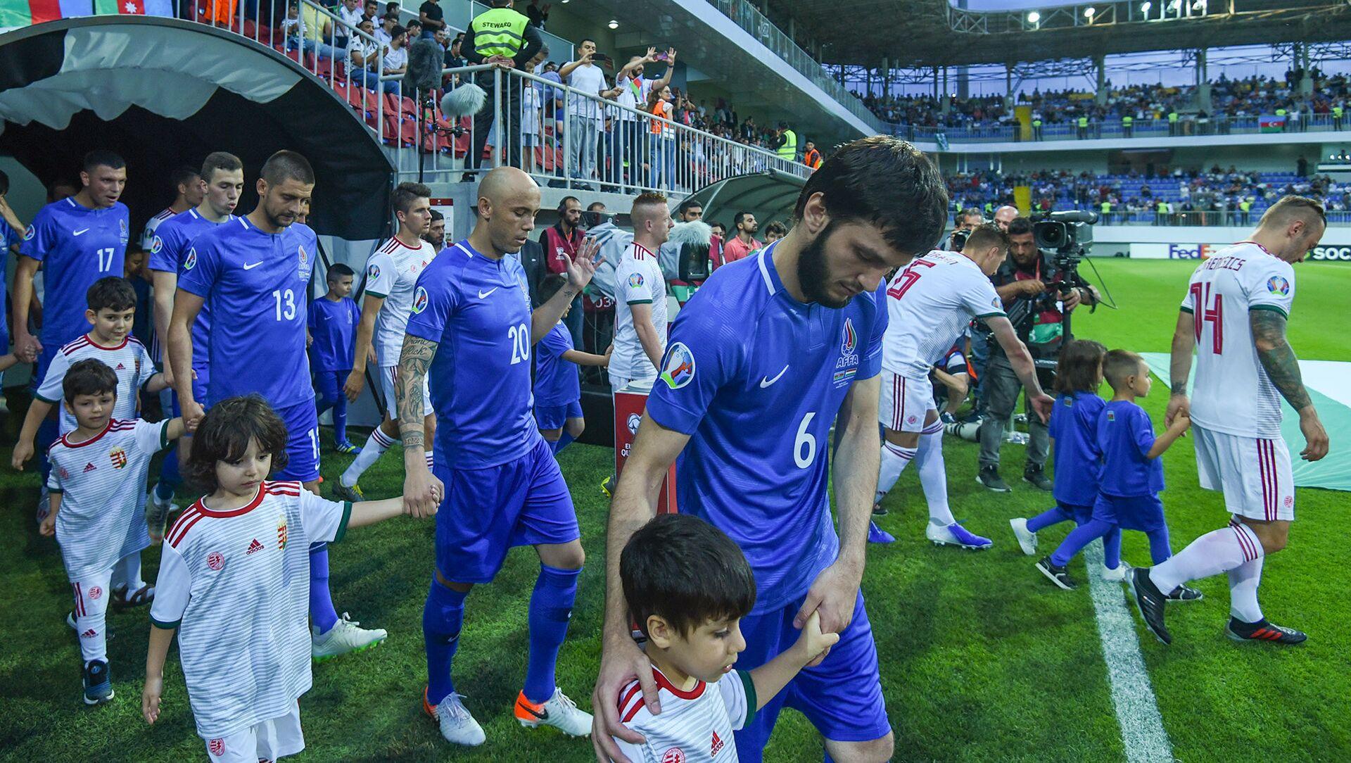 Отборочный матч чемпионата Европы 2020 года между футбольными сборными Азербайджана и Венгрии - Sputnik Азербайджан, 1920, 04.03.2021