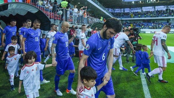Отборочный матч чемпионата Европы 2020 года между футбольными сборными Азербайджана и Венгрии - Sputnik Азербайджан